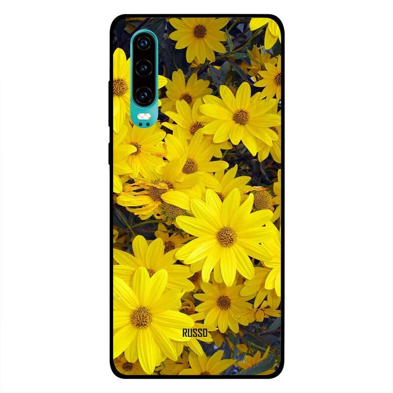 Russo Huawei P30 Mobile Phone Back Cover, Sunflowers