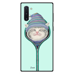 Zoot Samsung Note 10 Mobile Phone Back Cover, Cat Zipped