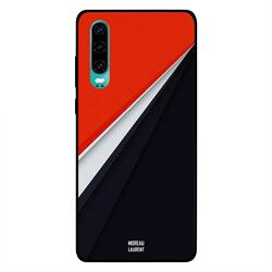 Moreau Laurent Huawei P30 Mobile Phone Back Cover, Red White Black Combination Pattern