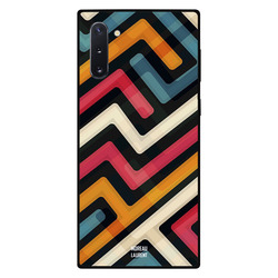 Moreau Laurent Samsung Note 10 Mobile Phone Back Cover, Paths of Multiple Colors Pattern