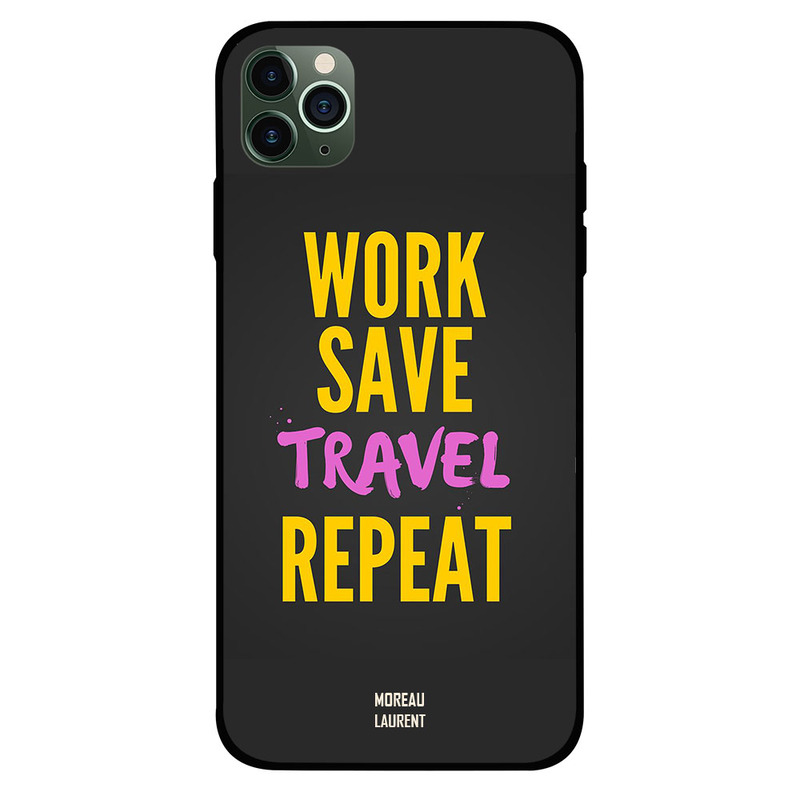 Moreau Laurent Apple iPhone 11 Pro Mobile Phone Back Cover, Work Save Travel Repeat