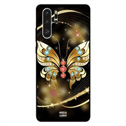 Moreau Laurent Huawei P30 Pro Mobile Phone Back Cover, Golden Diamond Butterfly