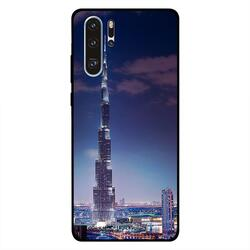 Moreau Laurent Huawei P30 Pro Mobile Phone Back Cover, Burj Khalifa Lightup