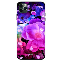 Russo Apple iPhone 11 Pro Max Mobile Phone Back Cover, Flower Painting