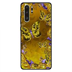 Moreau Laurent Huawei P30 Pro Mobile Phone Back Cover, Dark Yellow Floral & Butterflies