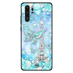Moreau Laurent Huawei P30 Pro Mobile Phone Back Cover, Eiffel Tower and Butterfly