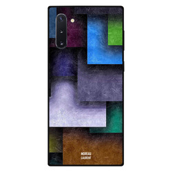 Moreau Laurent Samsung Note 10 Mobile Phone Back Cover, Multi Color Tile Shape Square Pattern