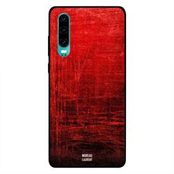 Moreau Laurent Huawei P30 Mobile Phone Back Cover, Red Vintage Pattern