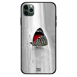 Moreau Laurent Apple iPhone 11 Pro Mobile Phone Back Cover, Red & Black Designer Butterfly
