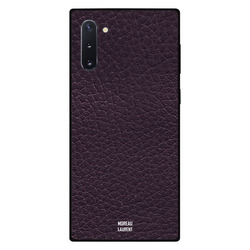 Moreau Laurent Samsung Note 10 Mobile Phone Back Cover, Purple Leather Pattern