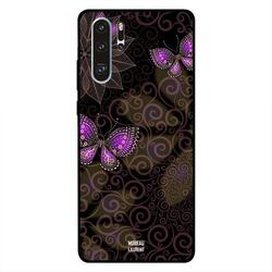 Moreau Laurent Huawei P30 Pro Mobile Phone Back Cover, Floral Big and Pink Butterflies