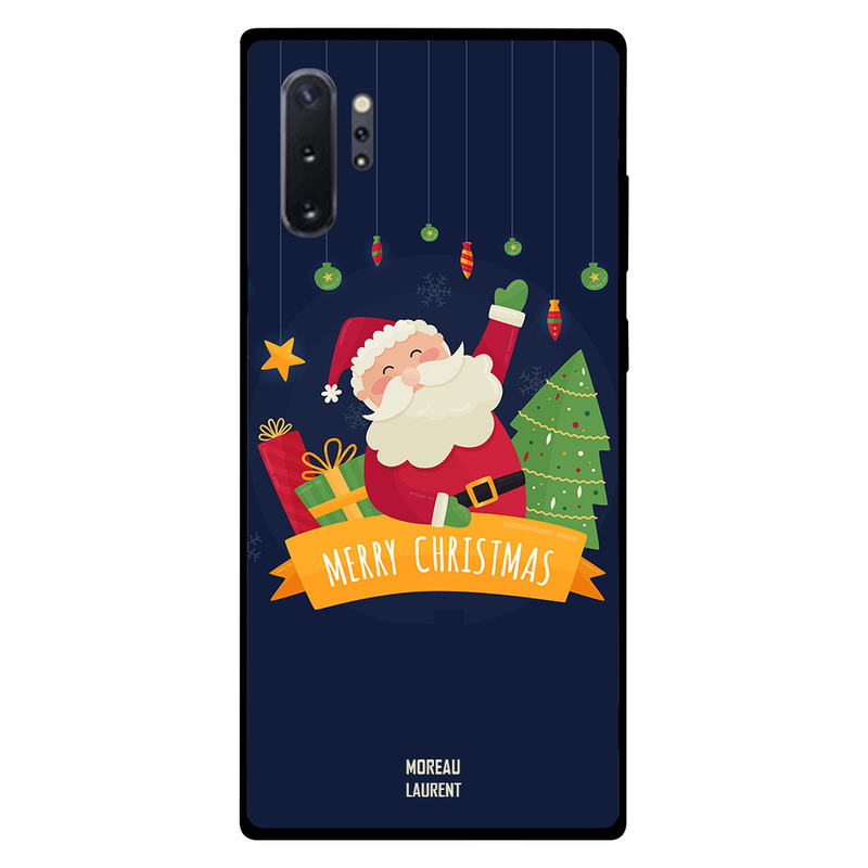 Moreau Laurent Samsung Note Plus Mobile Phone Back Cover, Merry Christmas Tree with Messenger