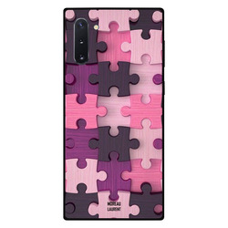 Moreau Laurent Samsung Note 10 Mobile Phone Back Cover, Pink Color Wooden Puzzle Toys Pattern