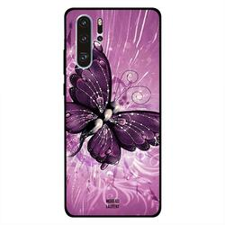 Moreau Laurent Huawei P30 Pro Mobile Phone Back Cover, Dark Pink Butterfly