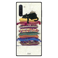 Zoot Samsung Note 10 Mobile Phone Back Cover, Lazy Cat