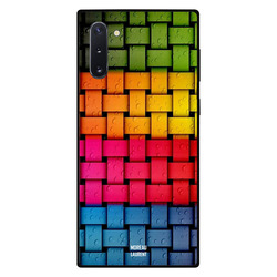 Moreau Laurent Samsung Note 10 Mobile Phone Back Cover, Rainbow Colors & Water Drops Pattern
