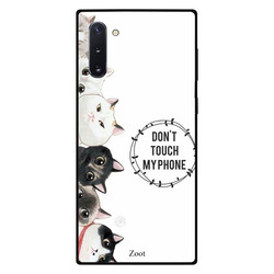 Zoot Samsung Note 10 Mobile Phone Back Cover, Cats Don't Touch My Phone