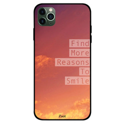 Zoot Apple iPhone 11 Pro Max Mobile Phone Back Cover, Find More Reasons To Smile