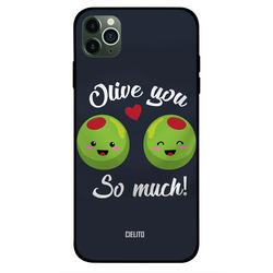 Cielito Apple iPhone 11 Pro Mobile Phone Back Cover, Olive You So Much