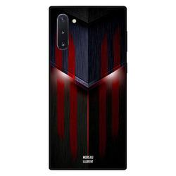 Moreau Laurent Samsung Note 10 Mobile Phone Back Cover, Red & Black Lighting Pattern
