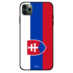 Zoot Apple iPhone 11 Pro Max Mobile Phone Back Cover, Slovakia Flag