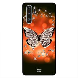 Moreau Laurent Huawei P30 Pro Mobile Phone Back Cover, Cute Golden Butterfly