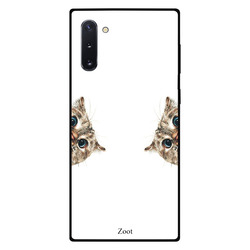 Zoot Samsung Note 10 Mobile Phone Back Cover, Sneaky Cat