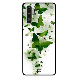 Moreau Laurent Huawei P30 Pro Mobile Phone Back Cover, Flying Green Butterflies
