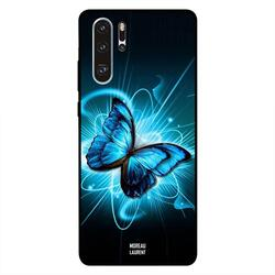 Moreau Laurent Huawei P30 Pro Mobile Phone Back Cover, Dark Blue Green Butterfly