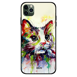 Cielito Apple iPhone 11 Pro Mobile Phone Back Cover, Impression Cat Art