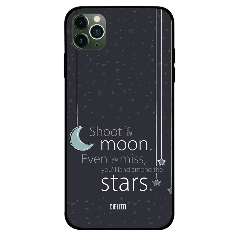 Cielito Apple iPhone 11 Pro Mobile Phone Back Cover, Shoot On Moon