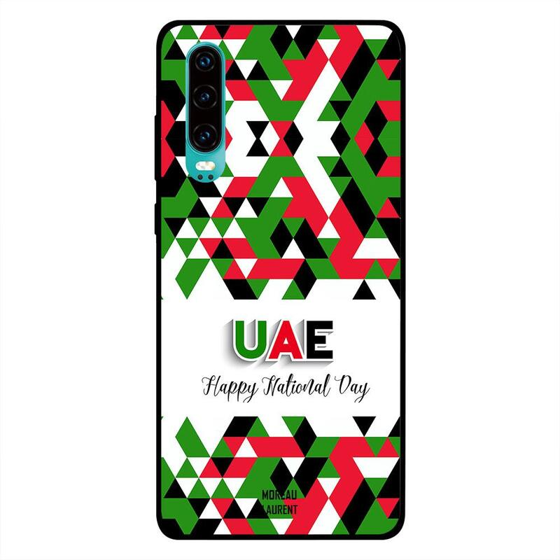 Moreau Laurent Huawei P30 Mobile Phone Back Cover, UAE Happy National Day