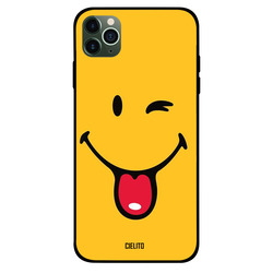 Cielito Apple iPhone 11 Pro Max Mobile Phone Back Cover, Smiley Wink