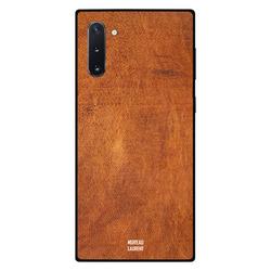 Moreau Laurent Samsung Note 10 Mobile Phone Back Cover, Orange Brown Leather Pattern