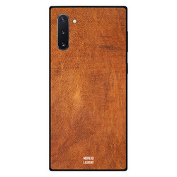 Moreau Laurent Samsung Note 10 Mobile Phone Back Cover, Orange Brown Leather Pattern