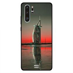 Moreau Laurent Huawei P30 Pro Mobile Phone Back Cover, Burj Al Arab Close Red