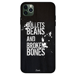 Zoot Apple iPhone 11 Pro Max Mobile Phone Back Cover, Bullets Beans Bones