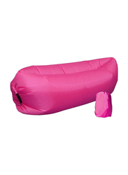 In-House Fast Inflatable Nylon Lazy Sofa Air Sleeping Bag, AS-2, Pink, Single