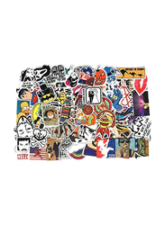 Random Cool Skateboard Luggage Waterproof Vinyl Decals Toy Bike DIY Mixed Sticker for Laptop Phone, 100 Pieces, Ages 1+