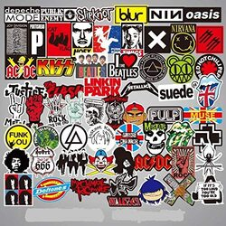 Random Cool Skateboard Luggage Waterproof Vinyl Decals Toy Creative Bike DIY Mixed Sticker for Laptop Phone, 100 Pieces, Ages 1+