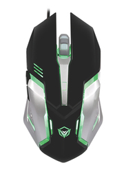 Meetion M915 Backlit Optical Gaming Mouse, Black/Silver