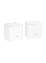 Tenda Technology Nova MW3 Whole Home Mesh Wi-Fi System, 2-Pack, White