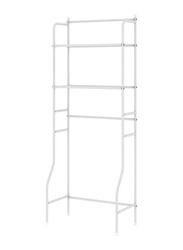 The Toilet Bathroom Storage Free Standing Organizer Storage Shelf, White