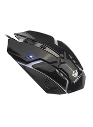 Meetion M371 USB Backlit Optical Gaming Mouse, Black
