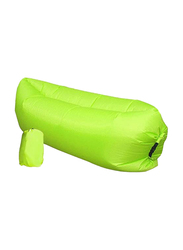 Fast Inflatable Lazy Sofa Air Sleeping Bag, Green, Single