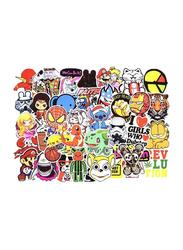 PVC Car Styling Cartoon Sticker Set, 100 Pieces, Multicolor