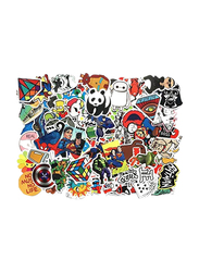Random Cool Vinyl Decals Skateboard Luggage Waterproof Toy Bike DIY Mixed Sticker for Laptop Phone, 100 Pieces, Ages 1+