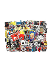 Random Cool Skateboard Luggage Vinyl Decals Waterproof Toy Bike DIY Mixed Sticker for Laptop Phone, 100 Pieces, Ages 1+