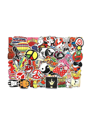 Random Cool Skateboard Luggage Vinyl Decals Waterproof Toy Creative Bike DIY Mixed Sticker for Laptop Phone, 100 Pieces, Ages 1+