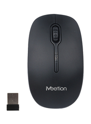 Meetion R547 Wireless Optical Mouse with 2.4G 1600dpi, Black